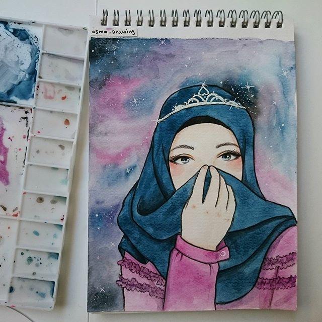 Ilustrasion hijab