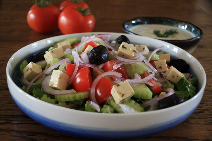 Greek salad.  Serve with crusty bread