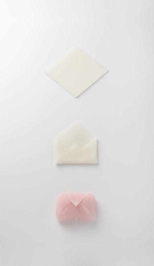 日菓の和菓子 : 日菓のあれこれ Japanese sweets: Envelope