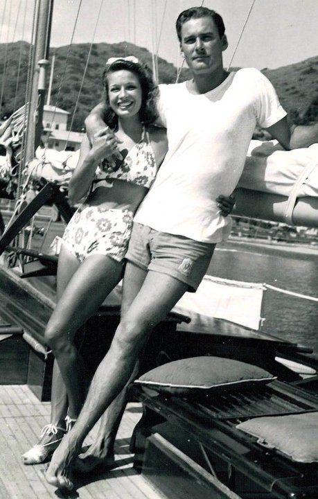 Errol Flynn and wife Lili Damita (c. late 1930′s)