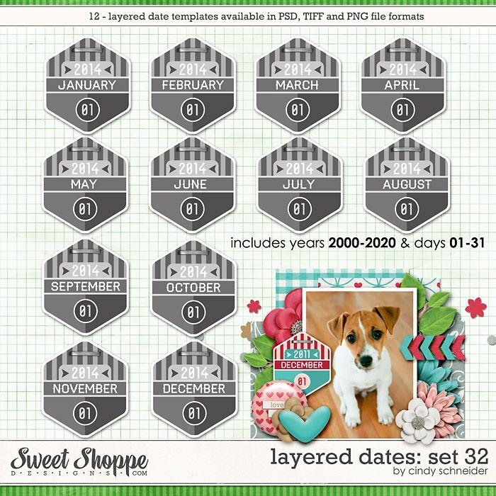 Cindy's Layered Dates: Set 32 by Cindy Schneider