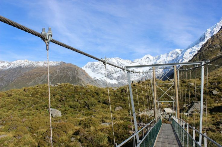 The third swing bridge on the Hooker Valley walk. The track is in fantastic condition and is an easy 3 hour return walk suitable for all fitness levels. #mountcook #hookervalley #nzmustdo