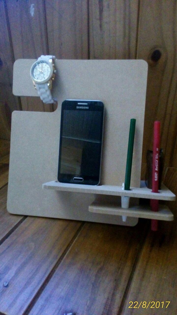 Modelo DXF para Corte CNC o Láser Stand Celular – Reloj – billetera Descarga Gratuita Vector de corte: