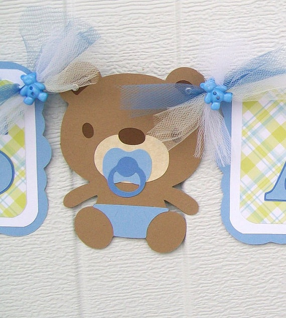 Paper baby shower banner