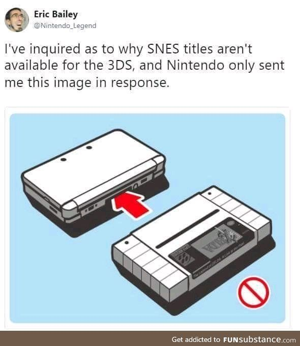 What's this? Nintendo snark? Impossible.
