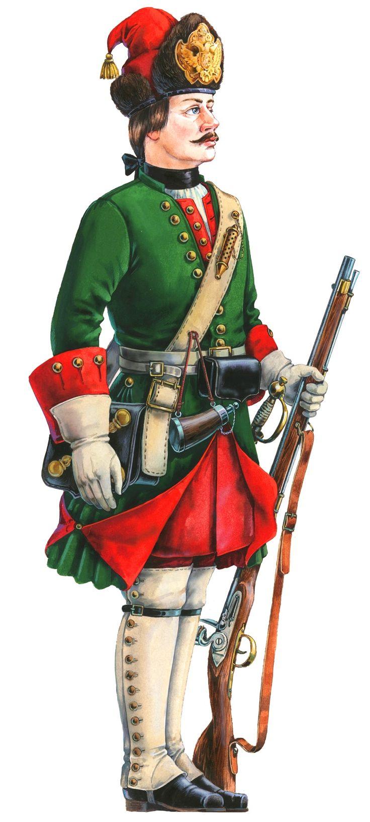 Mikhail Ivanov. Grenadier of the Petrine Army.