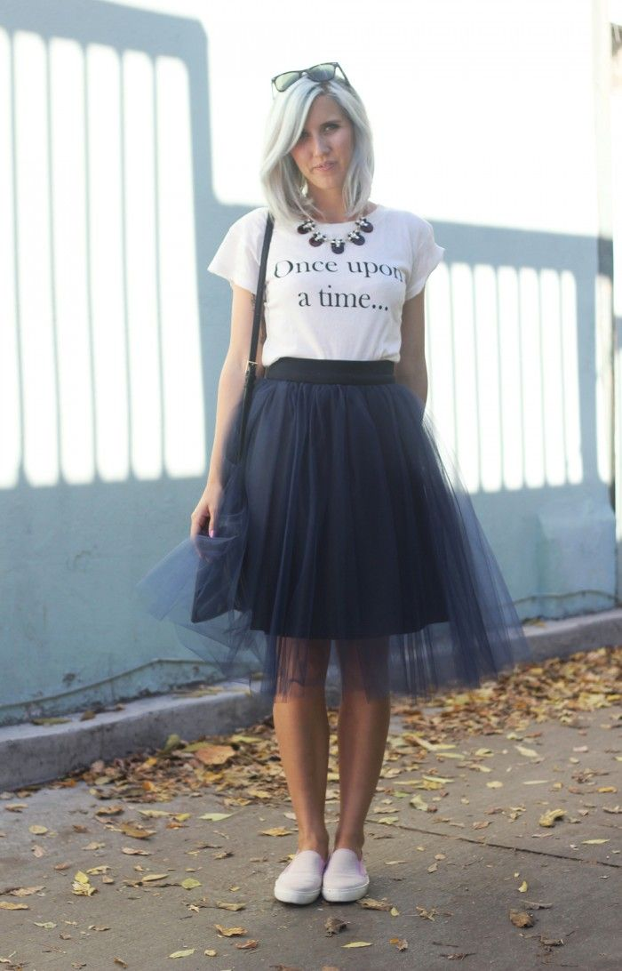 How To Style a Tulle Skirt: Casual {Bicyclette Boutique}