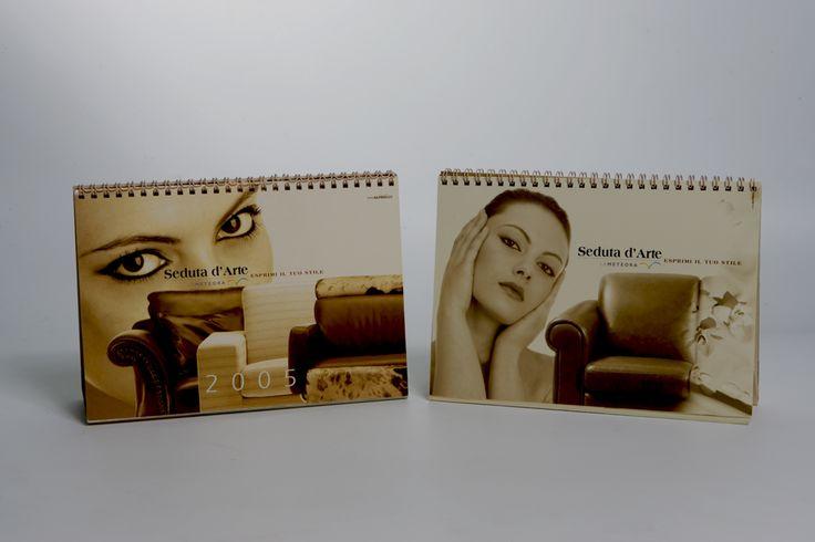 Corporate Identity for the new brand: Seduta d'Arte. Calendario 2005 Art director: Mauro Giammarini Graphic design: Mauro Giammarini Stilyng and art work: Patrizia Laquale Photo: D.Barile Agenzia: MgAltergo