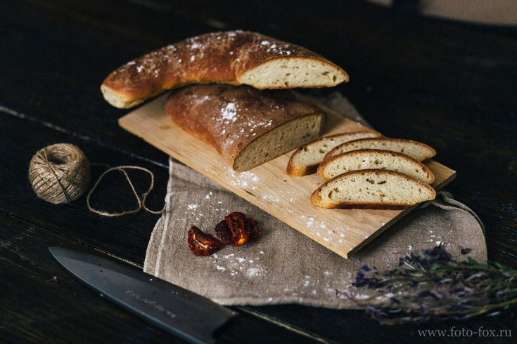 домашний хлеб в деревенском стиле