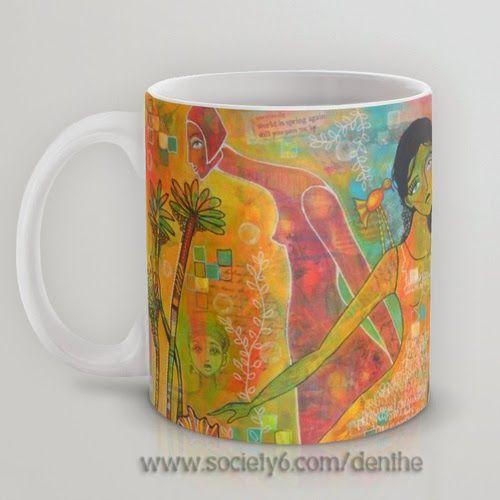 denthe mug with painting http://society6.com/denthe