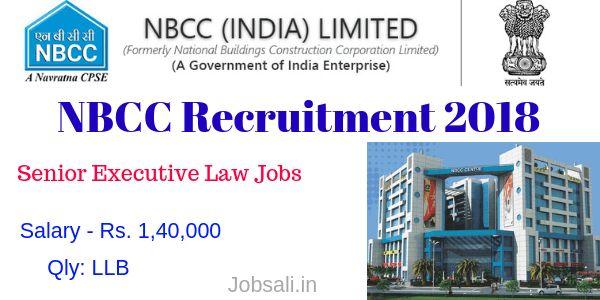 Senior Executive Law Job In Nbcc Recruitment 2018 In New Delhi