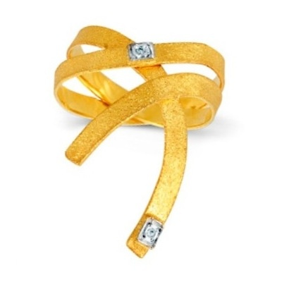 Ring Yellow Gold 18k Diamonds www.parthenon-greekjewelry.com