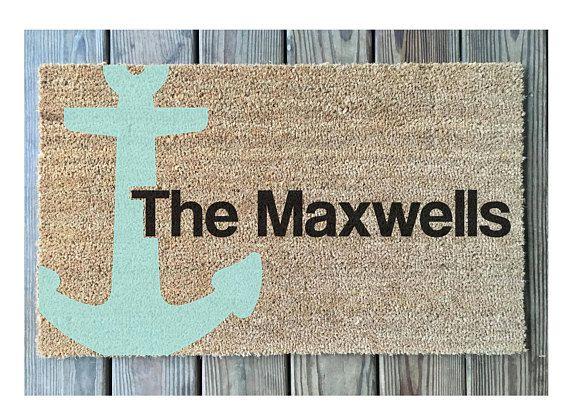 Nautical Door Mat // Personalized Door Mat // Anchor Door Mat //  Personalized Anchor Door Mat