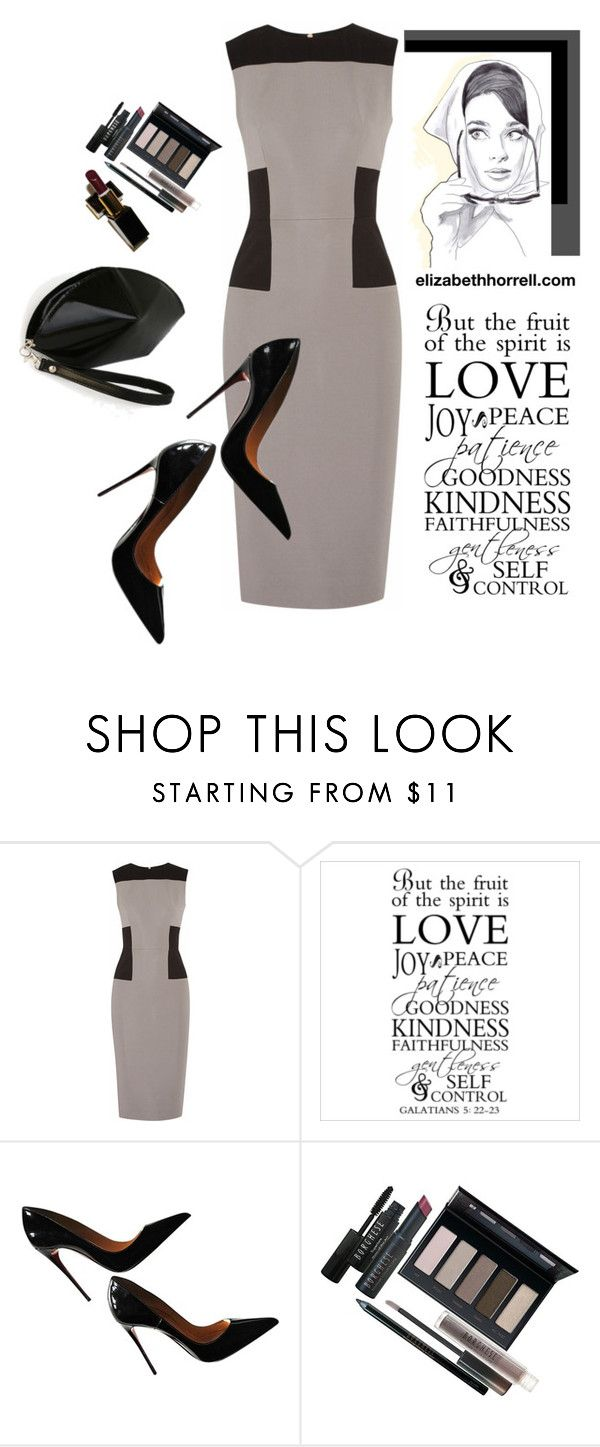 LIZ by elizabethhorrell on Polyvore featuring Victoria Beckham, Christian Louboutin and Borghese
