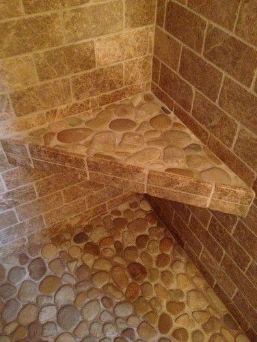Bathroom Shower Stone - contemporary - bathroom - boston - Fowler Tile Design