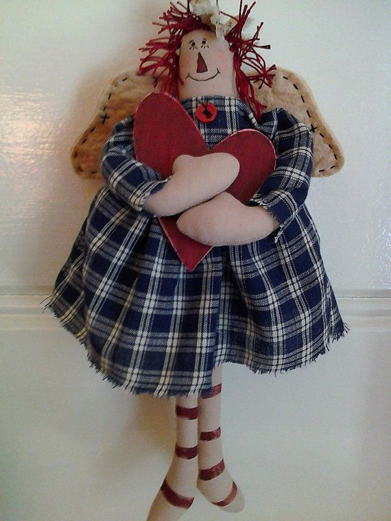 Primitive Country Handmade Gingerbread Boy by PatchworkFriends