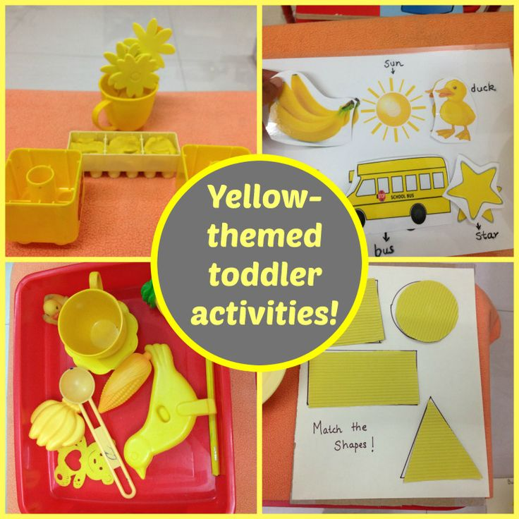 Yellow Themed Activities for Toddlers (from MummaDiaries)