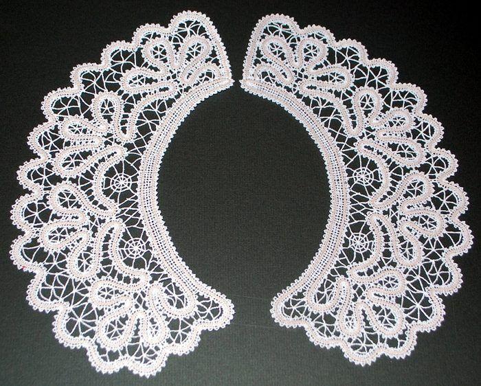 Advanced Embroidery Designs - FSL Battenberg Lace Collar