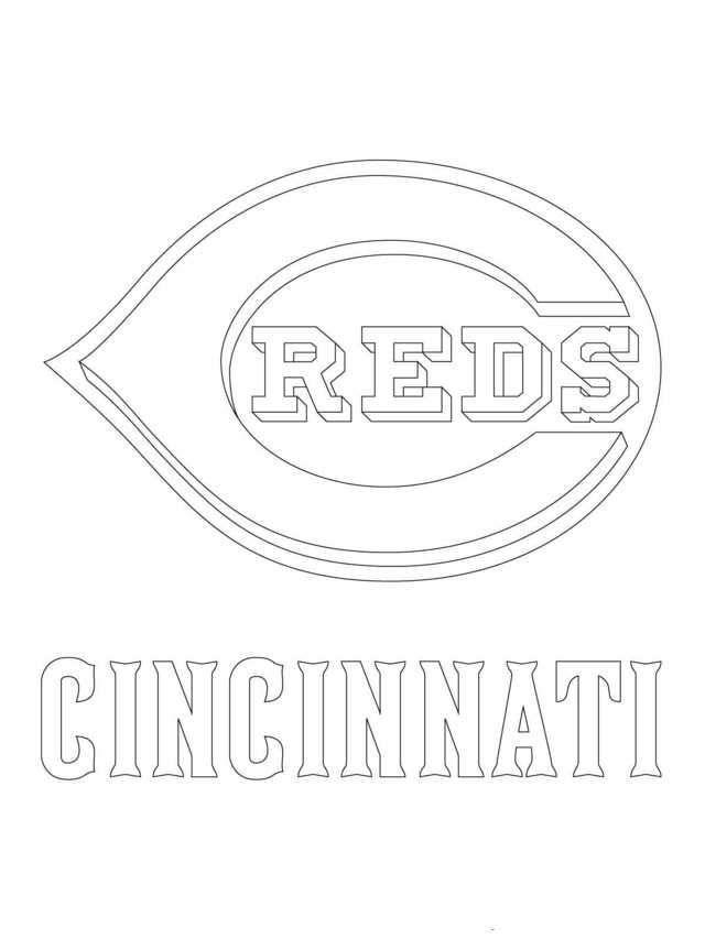 Mlb Coloring Pages Cincinnati Reds