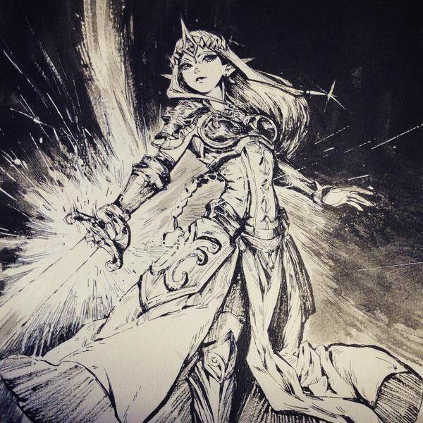 #Dessin #Zelda Hyrule Warriors par trishweeeee #Manga                                                                                                                                                      Plus