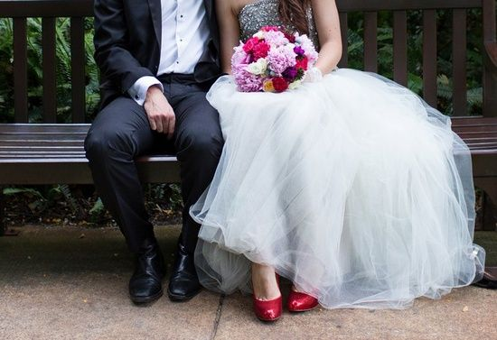 Colourful wedding shoes - Pink