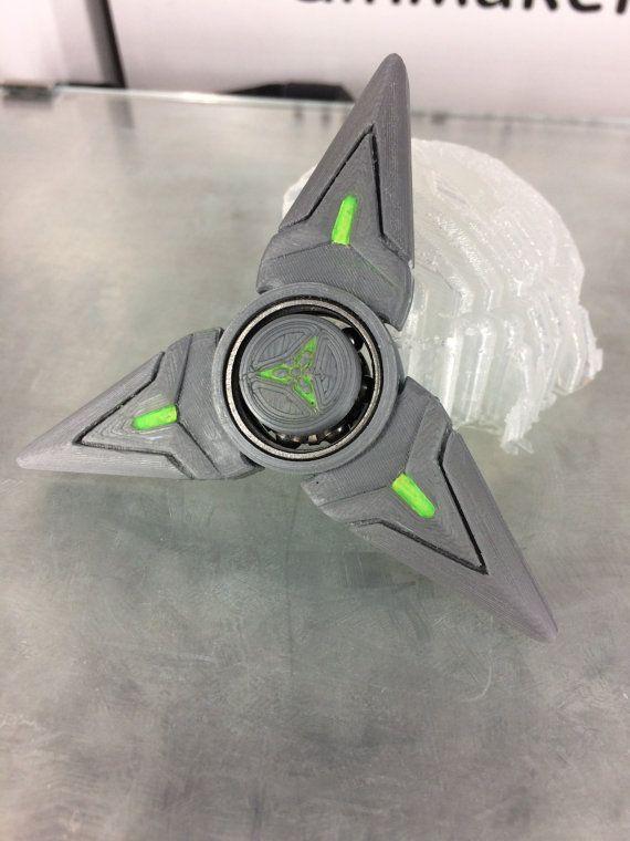 Overwatch Genji shuriken hand spinner by Scampy001 on Etsy