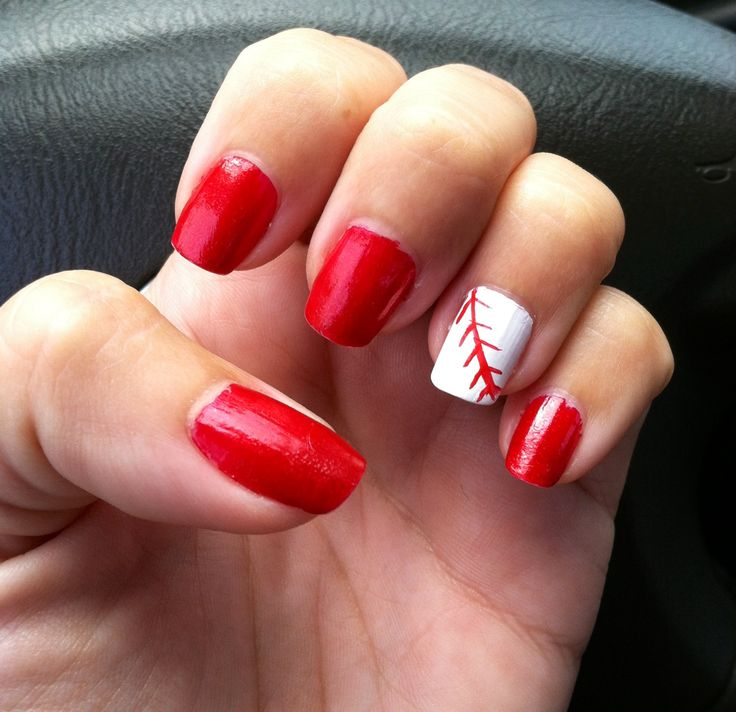 20 Amazing Nail Art Designs Inspired By Games We Play: Best 60 Sports Themed Nails Images On Pinterest