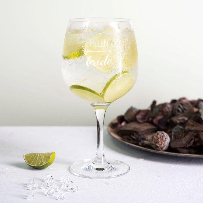 Personalised Premium Gin Glass - Bride | GettingPersonal.co.uk