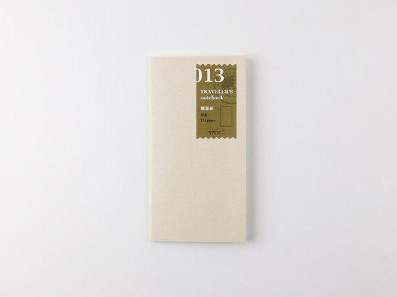 013. Light Weight Paper (128pg) TRAVELER'S notebook - Miscellaneous