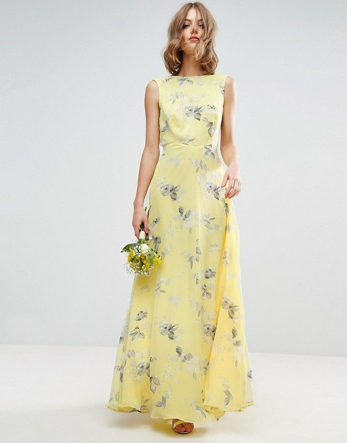 47 best images about yellow bridesmaid dresses on for Yellow maxi dress for wedding
