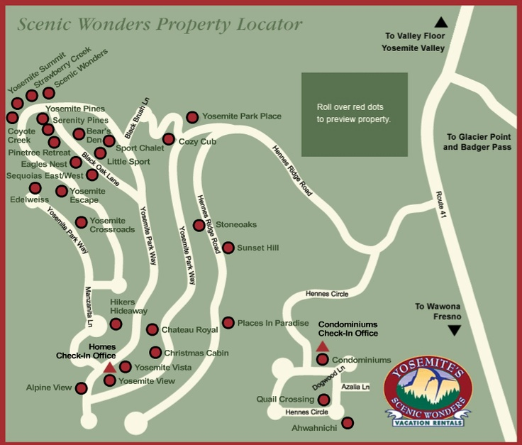 Check Out Our Interactive Property Map And Find Your Perfect Yosemite Rental