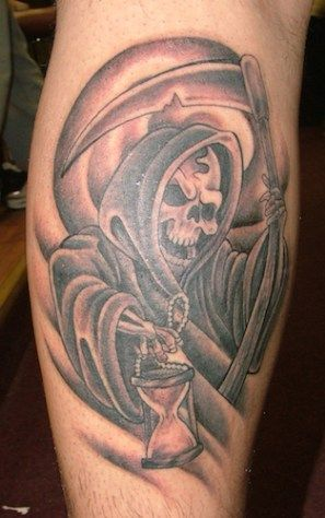 30 best grim reaper tattoo designs calf images on pinterest arm tattoos art illustrations and. Black Bedroom Furniture Sets. Home Design Ideas