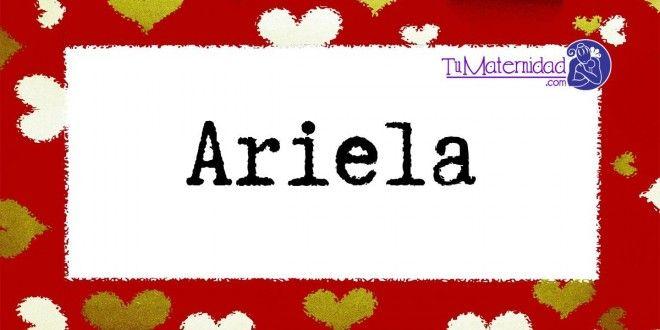 Conoce el significado del nombre Ariela #NombresDeBebes #NombresParaBebes #nombresdebebe - http://www.tumaternidad.com/nombres-de-nina/ariela/
