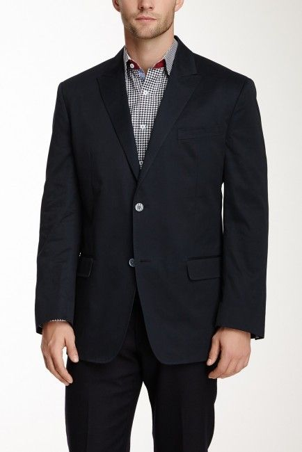 $498, Robert Graham Crowley Cotton Blazer. Sold by Nordstrom Rack. Click for more info: https://lookastic.com/men/shop_items/71297/redirect