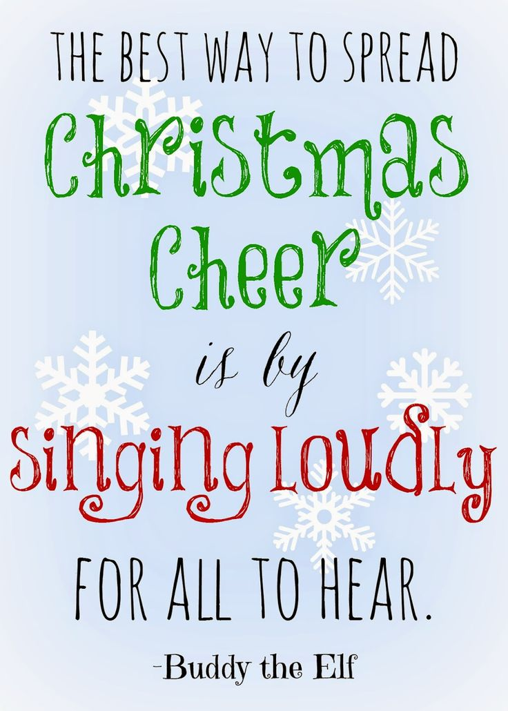 Free Printable Christmas Quote | I love this quote from Elf! One of my favorite holiday movies!!
