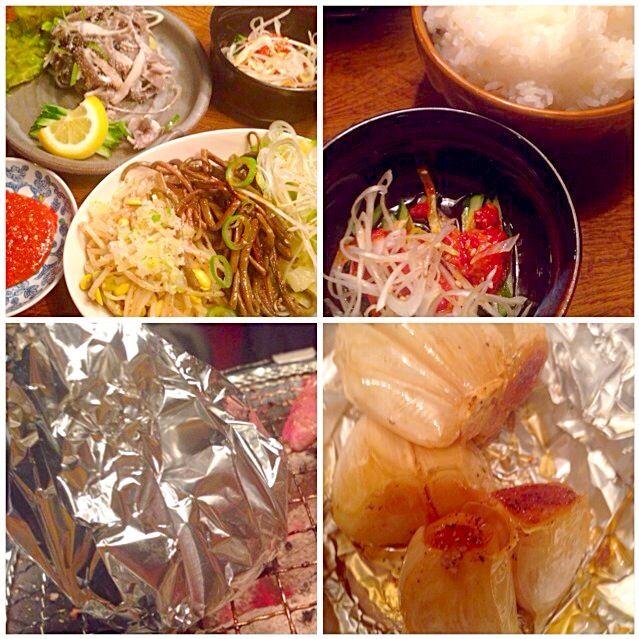 レシピとお料理がひらめくSnapDish - 37件のもぐもぐ - Namul etcせんまい刺し・ナムル盛り合わせ・チャンジャ・ニンニクホイル焼き by Ami