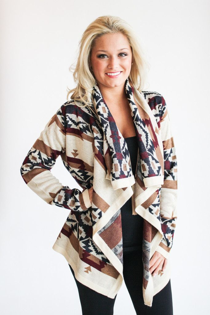 aztec sweater cardigan | WANT | Pinterest | Sweater ...