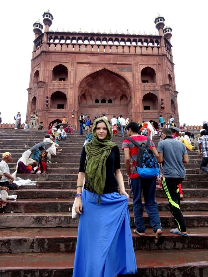 Agnieszka na wolontariacie w Indiach