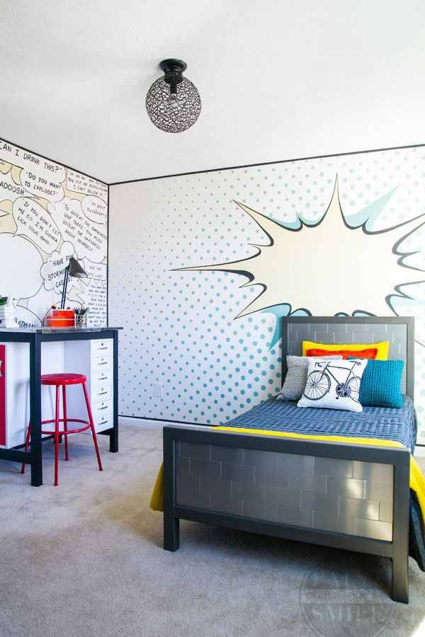 art bedroom furniture. pop art bedroom make over reveal furniture