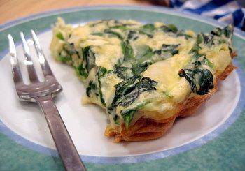 Crustless Spinach, Onion and Feta Quiche | Baking Bites