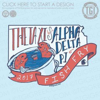 Theta Xi | ΘΞ | Alpha Delta Pi | ΑΔΠ|  Philanthropy | Fish Fry | Philanthropy Shirt | TGI Greek | Greek Apparel | Custom Apparel | Fraternity Tee Shirts | Fraternity T-shirts | Custom T-Shirts