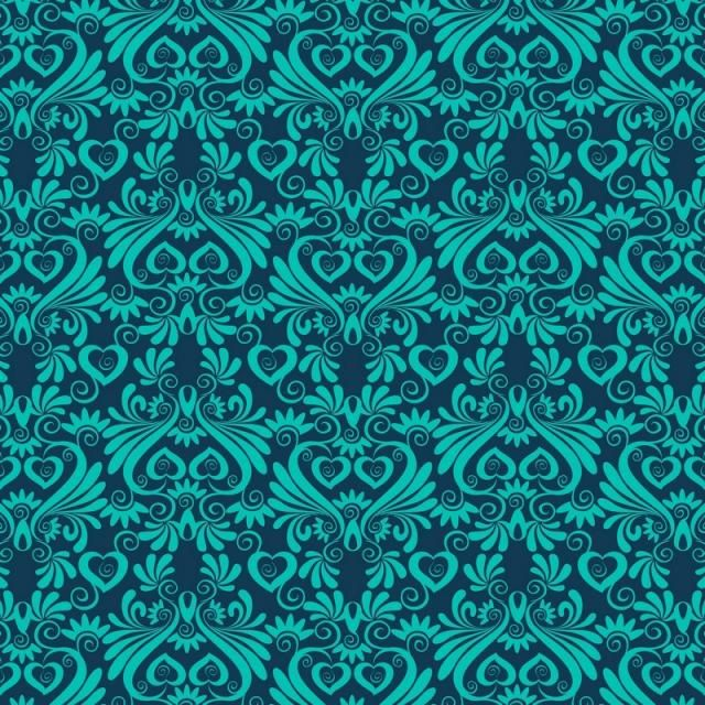 Seamless Luxury Ornamental Background Damask Seamless Floral