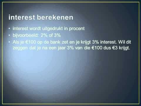interest berekenen - YouTube
