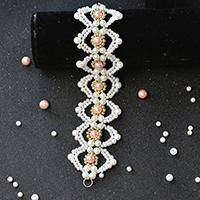 Do you like handmade pearl bracelets? If yes, you may love the following pink and white pearl bead bracelet. Just check the detailed tutorial below.
