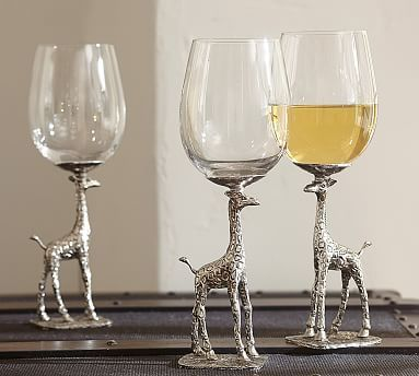 Giraffe Wine Glass, Set of 2 #potterybarn