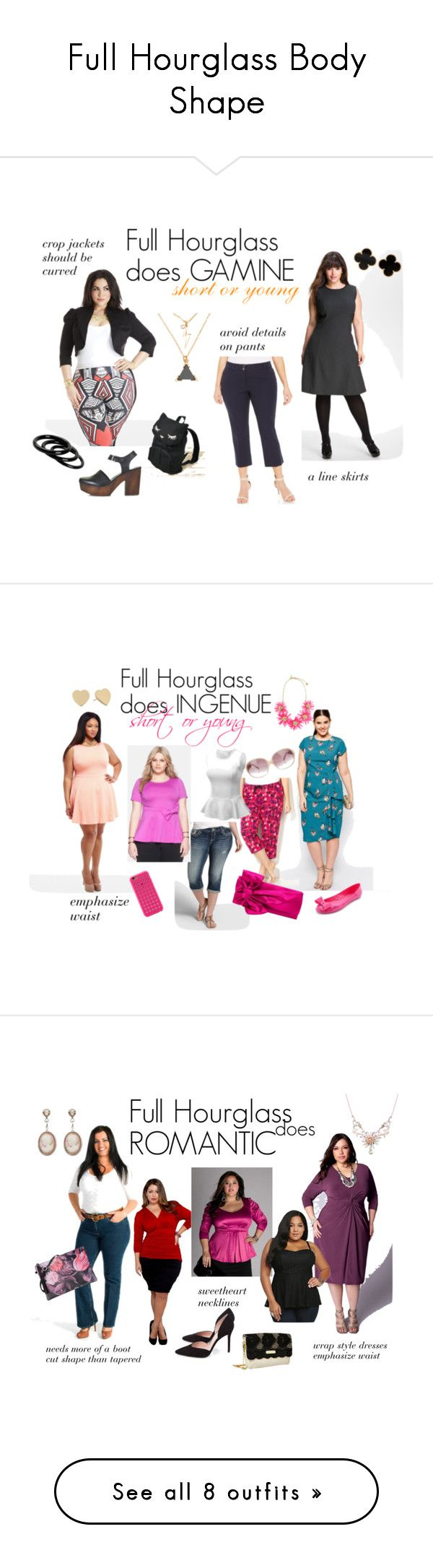 """Full Hourglass Body Shape"" by expressingyourtruth ❤ liked on Polyvore featuring Calvin Klein, Alfani, H&M, Van Cleef & Arpels, Furla, osumashi pooh-chan, Topshop, plus size clothing, ASOS Curve and Avenue"