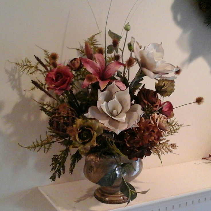 Floral Arrangement, Large Modern Silk Floral Centerpiece, SHIPPING  INCLUDED, Elegant Dining Table, Part 98