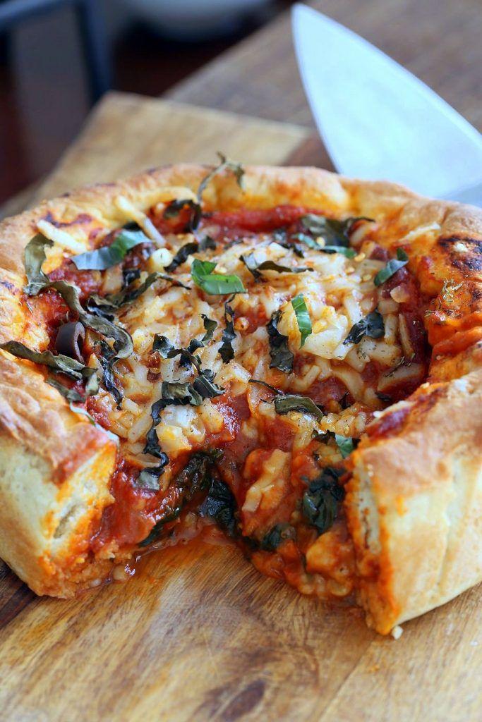 Vegan Deep Dish Pizza Recipe Deep Dish Pizza Recipe Vegan