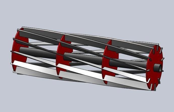 Cylinder Lawn Mower Blade - STL, SOLIDWORKS - 3D CAD model - GrabCAD