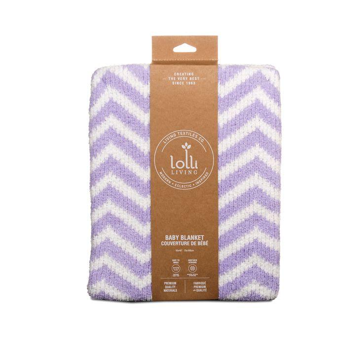 chenille blanket purple chevron - Chenille Blanket